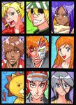 Bleach Sketch cards by flickter88