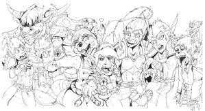 Horde Banner Inked by StarNob
