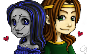 Mythic and Rohirok by DinchtGirlie