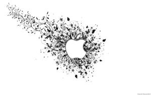 Wallpaper - White Apple by Sian44