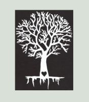 Tree - Paper Cut by RomancedWithWhispers