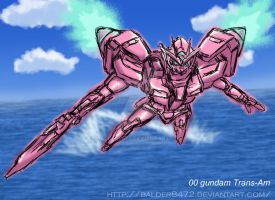 00 gundam Trans-am by Balder8472