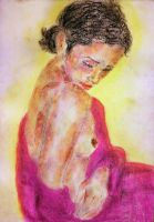 Oil pastel sketch # 43: Awakening by CpointSpoint