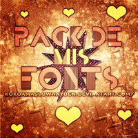 +Pack de mis fonts. by KokoaMaslowHayden