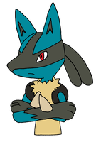 Lucario's Not happy by The-3Dan