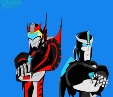 Starshadow and Thunder by ToniMizukiPrime