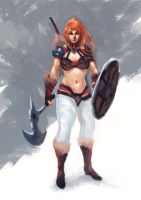 Red Sonja by MoshYong