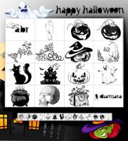 2012 Happy Halloween Freebie by Diamara