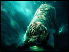 Underwater Tiger Retouch by PimArt