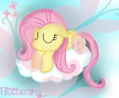 Sleeping Fluttershy by MarshmallowWithChoco