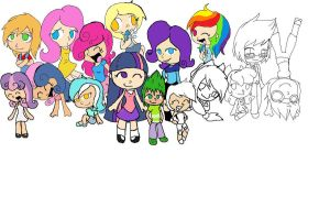MLP Chibis WIP by Lolly-pop-girl732