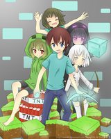 Minecraft..!.if it were an anime by skitrific