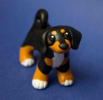 Dachshund mix dog sculpture by SculpyPups