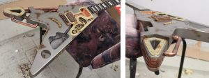 Steampunk guitar in progress 2 by Woolf83