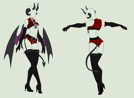 OUtfit Adopt - Seductive Demoness - SOLD by ShadowInkAdopts