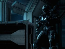 Halo Reach: half shadow by purpledragon104