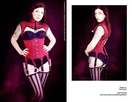 Kelly in Bolero Collar and Corset Set by Trinitynavar