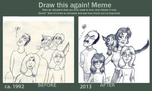 Draw this again! Meme: Family Drawing by Tabascofanatikerin