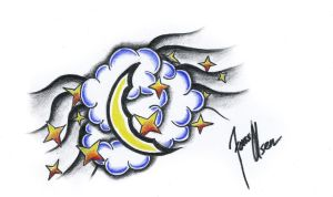 Moon tattoo design by JOVictory