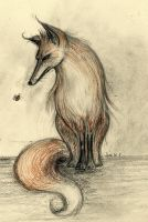 Fox and Bee by boegeob