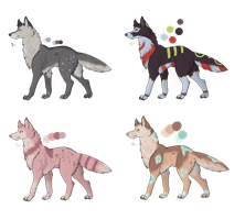 Wolf Adoptables Batch 1 [CLOSED] by Xecax