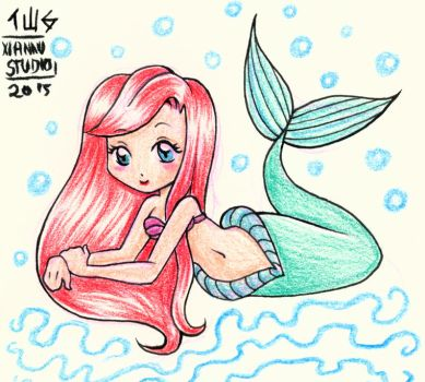 Fanart - Ariel -The Little Mermaid by Felwyn