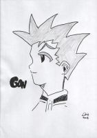Gon sketched and inked by davybackfight