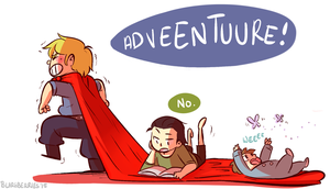 Asgardian Babies by blargberries