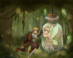 USUK - The Fairy and the Adventurer by burntnoodles