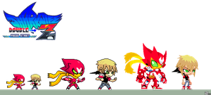 Sharknife Double Z Sprites by zeoarts