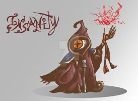Character Design: Insanity by CandleGhost