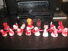 Necromorph Chess army by crystall0veslink