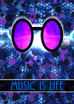 Vinyl Scratch Poster - Music Is Life by Game-BeatX14