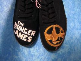 Hunger games shoes by iheartart06