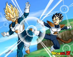 vegeta and tarble by DrabounZ