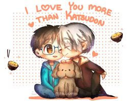 {yuri on ice} I love you more than katsudon by Paluumin