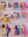 Mane Six Lying Beanies by lazyperson202