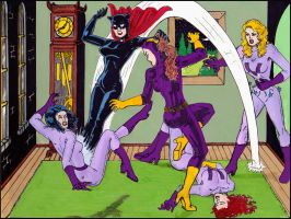 Miss Fury Takes Down Purple Vixen by dangerfan