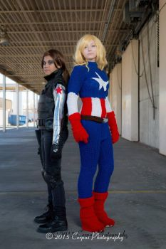 2 Sides (Knitted Captain America - Marvel) by FangirlPhysics