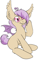 Some bat pony. by bunnybun-chan