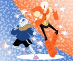Drop Pop Candy- Sans and Papyrus by RosyPumpkin