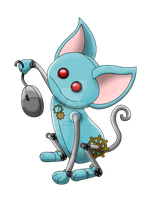Robot Cat with mouse-color by CL-Pinkskull