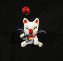 Moogle Maneki Neko by DragonCid