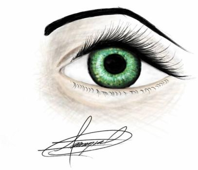 green eye by angel23569427