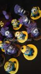 Yellow And Purple Minion cake toppers by gadgetcakes