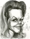 Elizabeth Montgomery in Bewitched by Caricature80