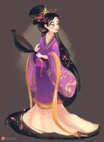 Chinese Rapunzel by hyamei