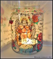 Baby Angel Candle Holder by Bonniemarie
