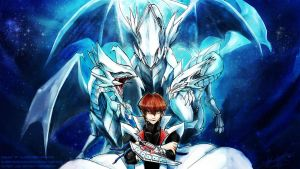 Seto Kaiba - Blue Eyes White Dragon Master - WP by slifertheskydragon