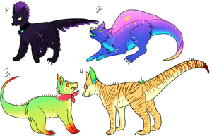 More alien dino dog adopts CLOSED by hyruchewey